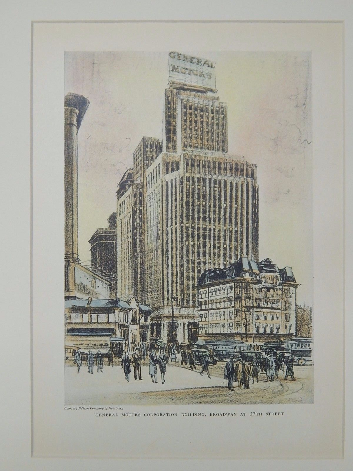 General Motors Corporation Building Broadway 57th New York Ny