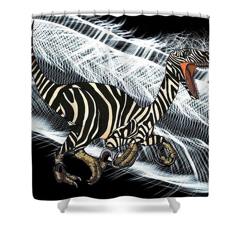 Zebra Raptor Flash Shower Curtain For Sale By Joan Stratton