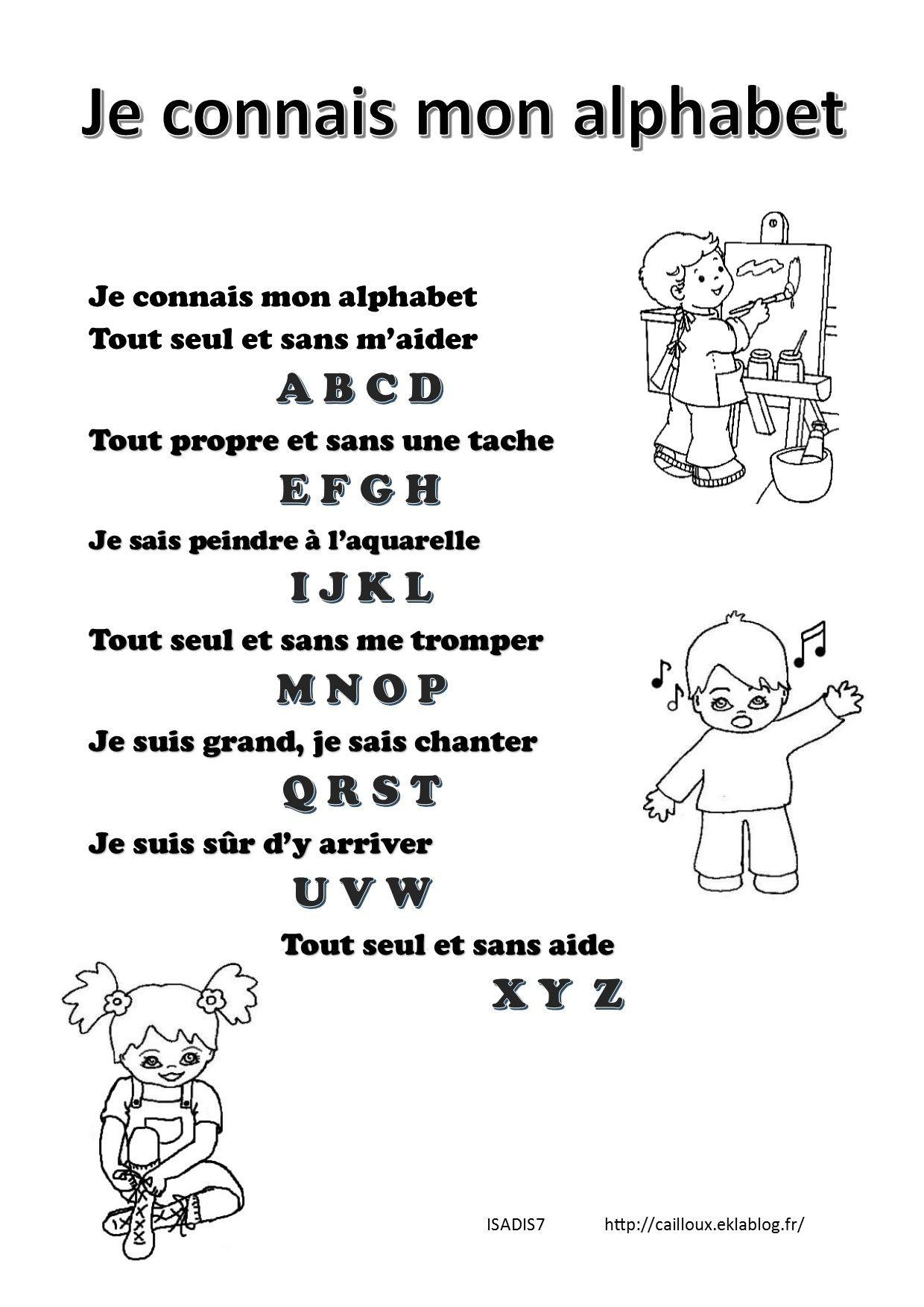 Je Connais Mon Alphabet Comptines Comptines Alphabet Et