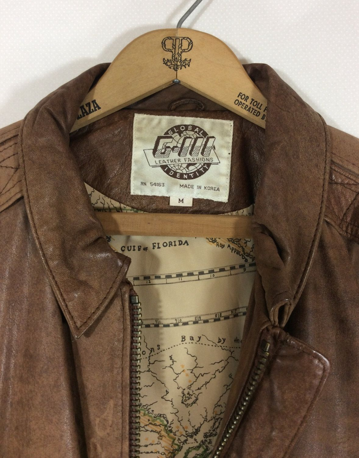 00aeccff2 Unisex Vintage Distressed Brown Leather Bomber Jacket with Escape ...
