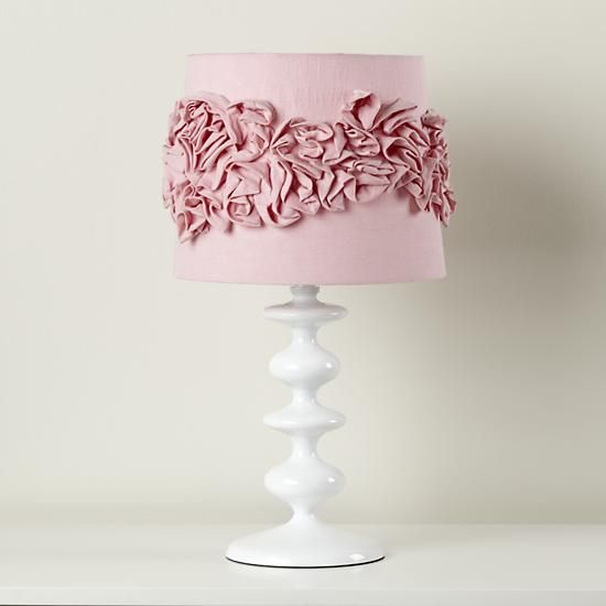 The land of nod kids lamp shades pink ruffled lamp shade in table lamps