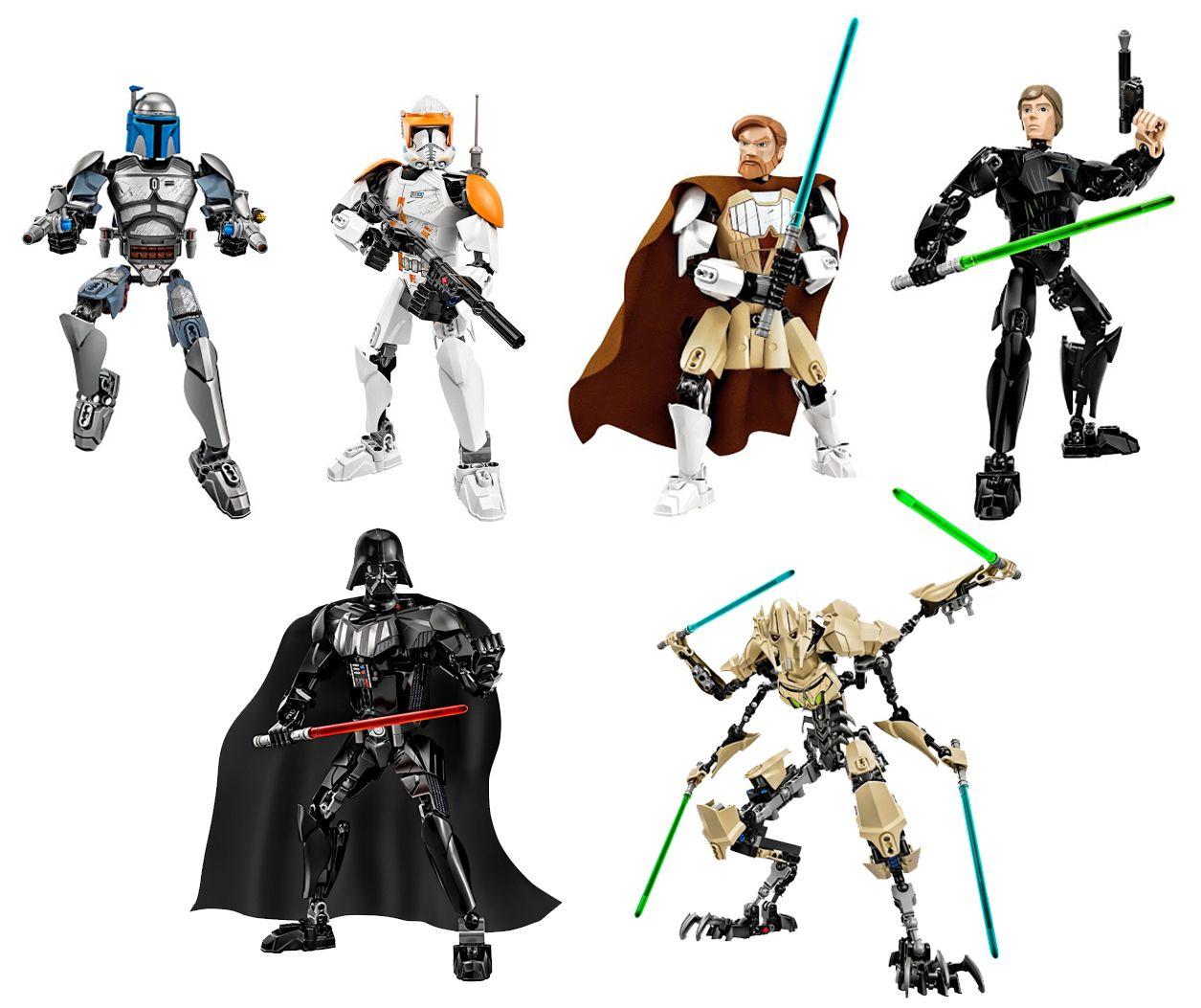 lego star wars buildable action figures present day. Black Bedroom Furniture Sets. Home Design Ideas
