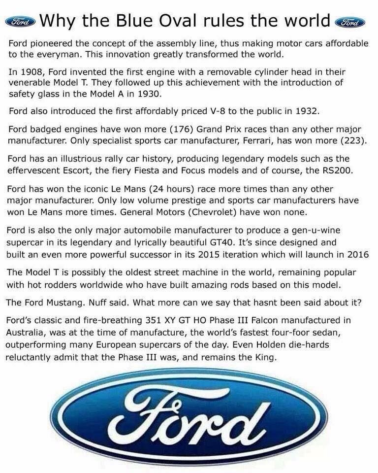 Holden Meme Why Ford Is Best Built Ford Tough Ford Classic Cars