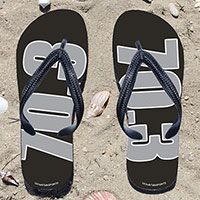 60d8a4d6a Gray 70.3 on Black Flip Flops - Kick back after a triathlon with these  great flip flops! Fun and functional flip flops for all triathletes.