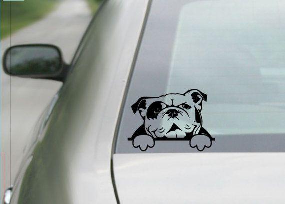 English Bulldog Sticker Vinyl Auto Window Sticker