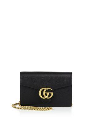 2e66a5cef5e8 GUCCI GG Marmont Leather Chain-Strap Wallet. #gucci #wallet | Gucci ...