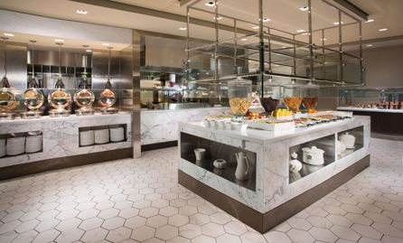 New York Hilton Midtown Herb N Kitchen Breakfast Buffet Shops