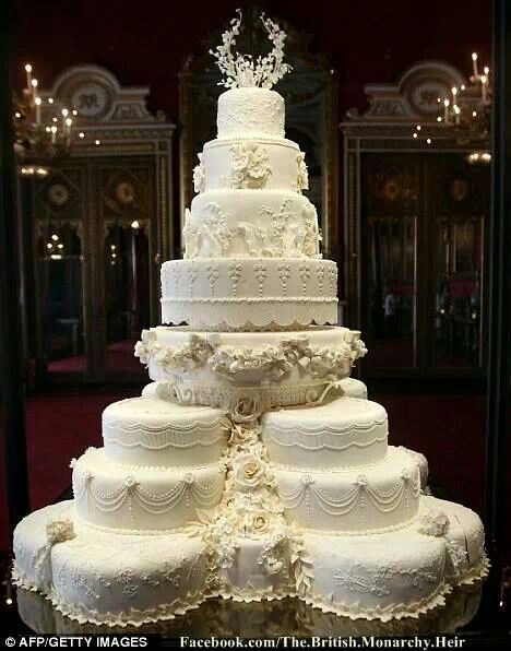 Prince William And Kate Middletons Wedding Cake First