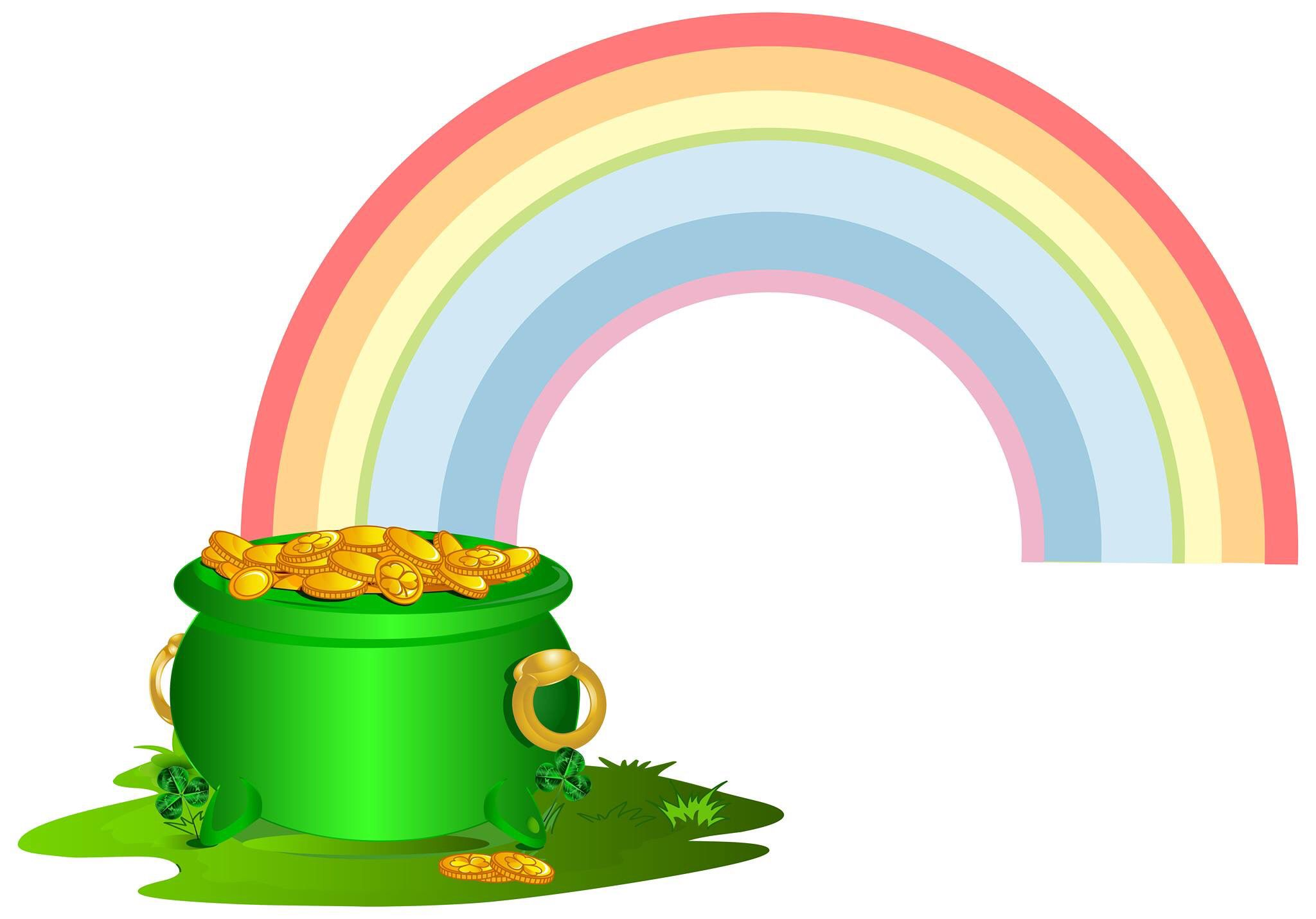 Pot O Gold At The End Of Your Rainbow Rainbow Png Art Images Pot Of Gold
