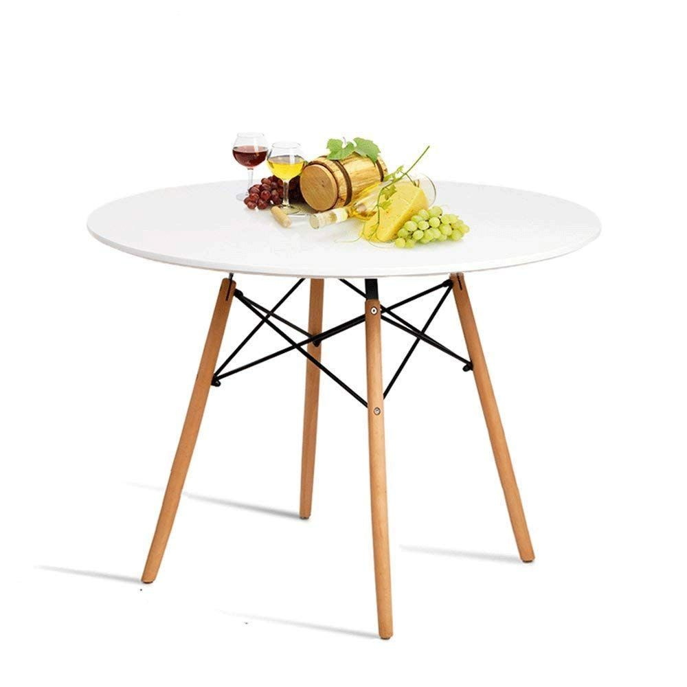 Modern Round Coffee Tea Table White Storage Retro MDF Side End Metal Wooden