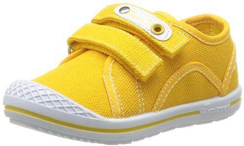 Chicco Elio 1051645000000 - Zapatillas de tela para unisex-niños, color amarillo, talla 33