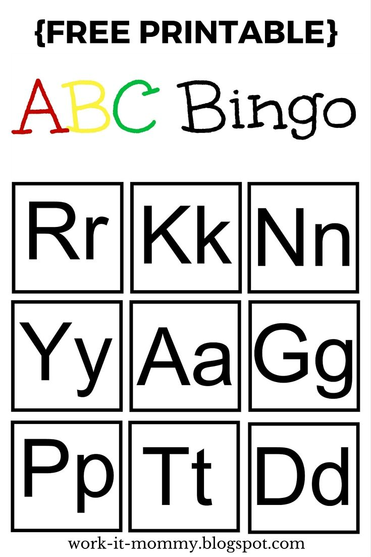 Alphabet Bingo {TTBH #7} | Alphabet bingo, Activities and Letter ...