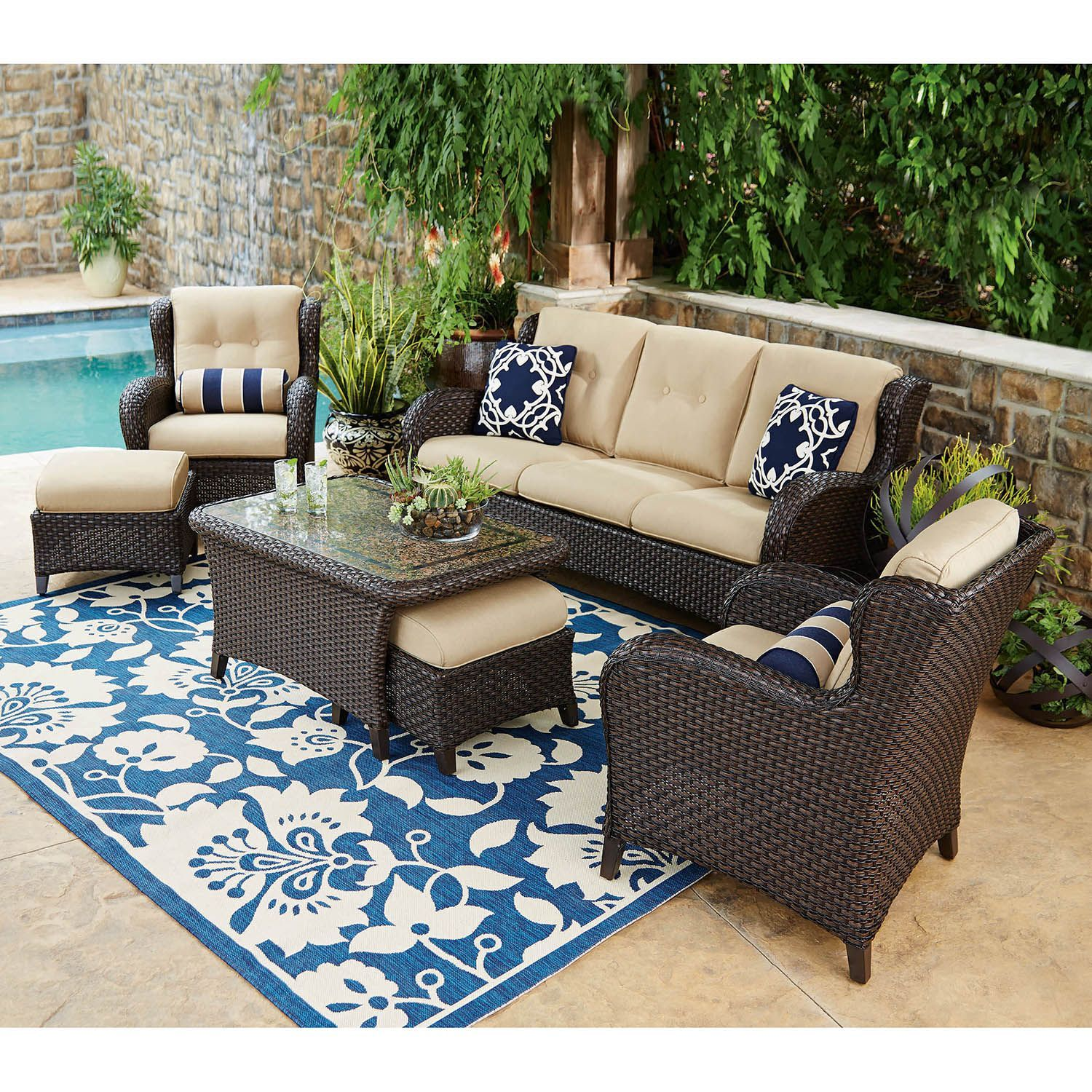 Member's Mark Heritage Deep Seating Set - Sam's Club - Member's Mark Heritage Deep Seating Set - Sam's Club Outdoor