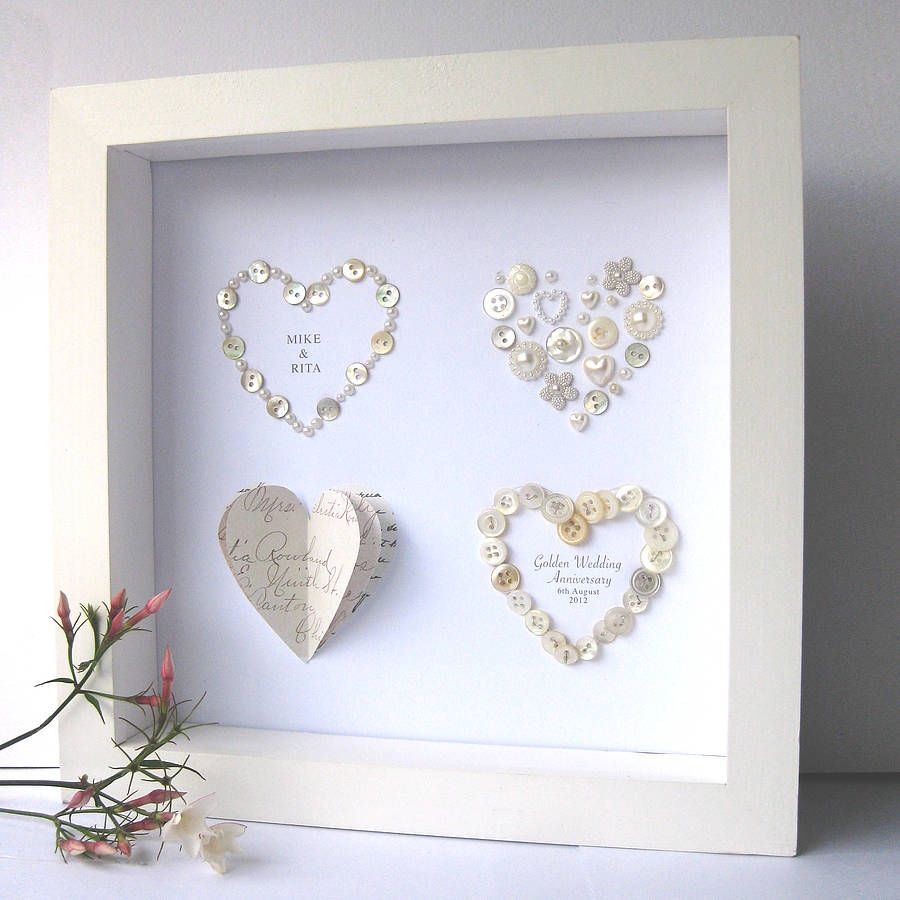 Personalised Golden Wedding Anniversary Art With Everywhere Theyve