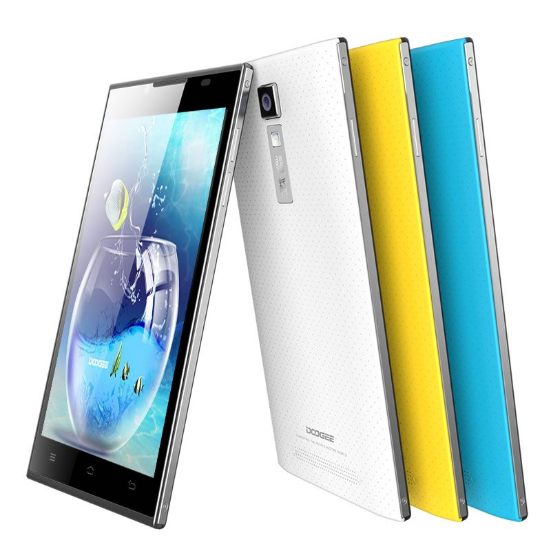 "DOOGEE TURBO DG2014 http://mobiiile.ru/?p=655 5"" IPS OGS 6.3mm Ultrathin 13MP MTK6582 Android 4.2.2 Quad Core 1GB + 8GB Phone"