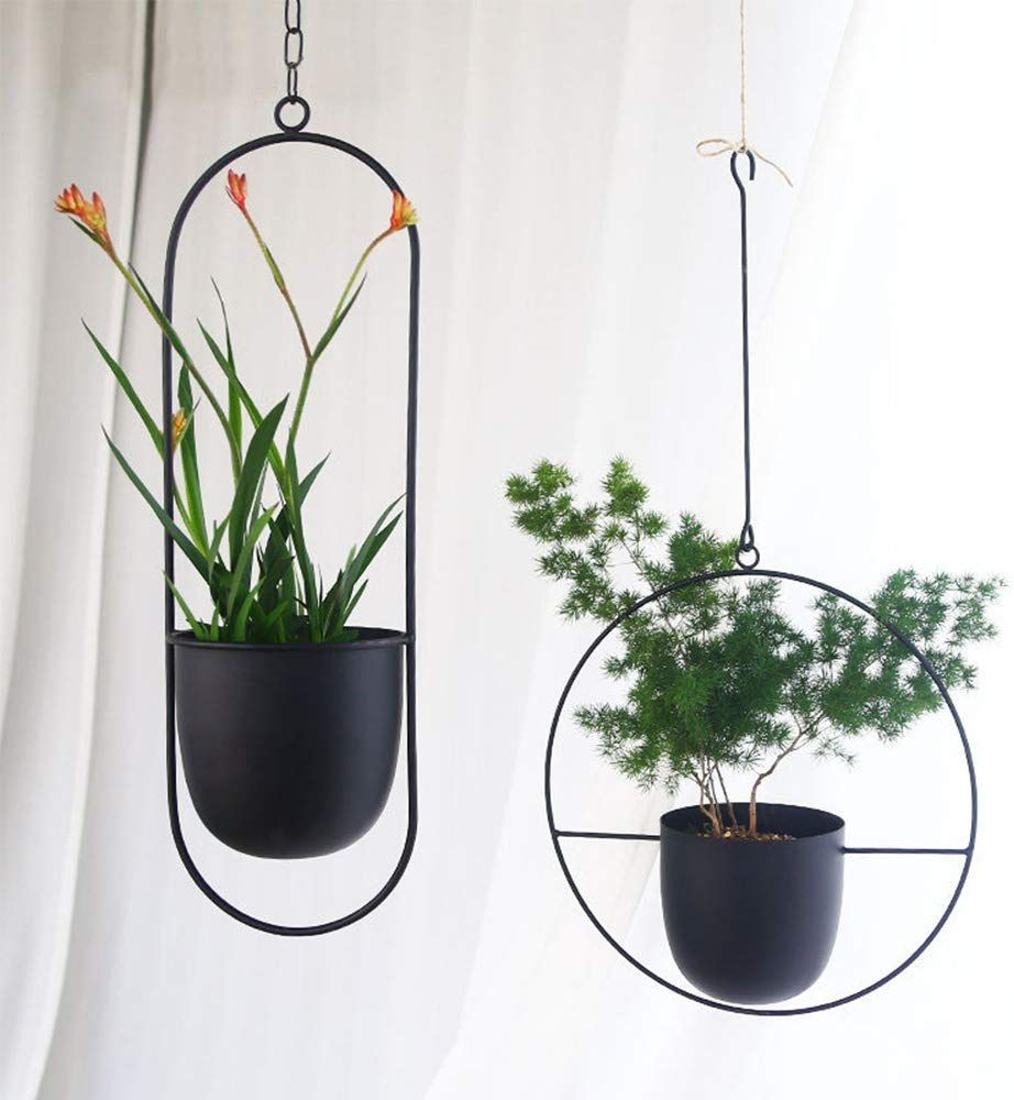 Amazon Com Sinolodo Metal Hanging Planters Boho Plant Hanger For Indoor Wall And Ceiling Hanging Planters In 2020 Metal Hanging Planters Hanging Planters Plant Hanger