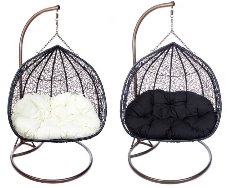 0ebf5ae2ca87 Double Hanging Egg Pod Chair Rattan Wicker Outdoor Furniture ...