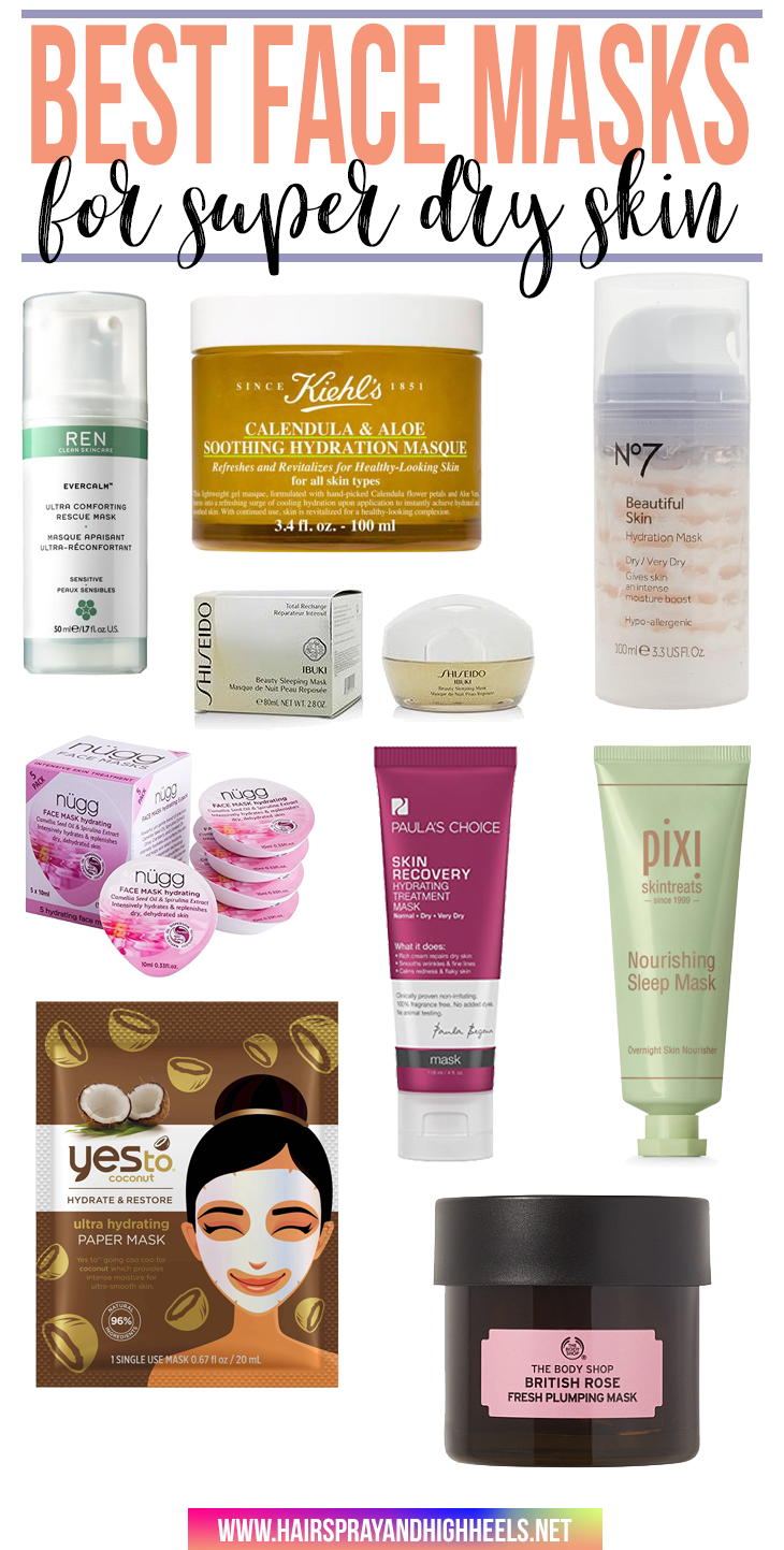 Best Face Masks for Super Dry Skin  Dry skin Face masks and Masking