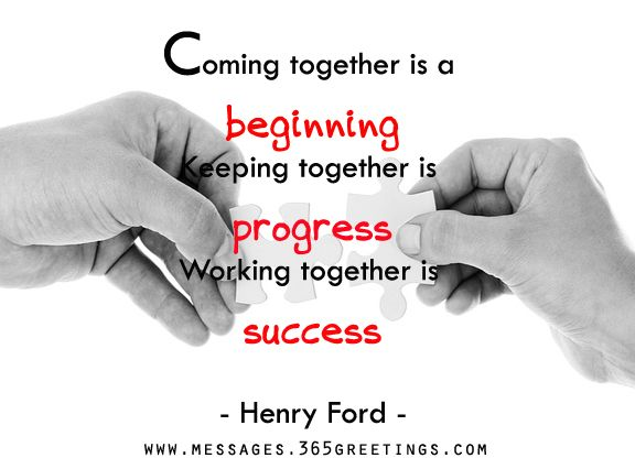 Teamwork Quotes and Sayings   Teamwork and Henry ford