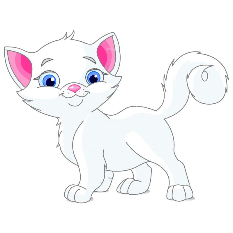 Clipart Cute White Cat Royalty Free Vector Design Cartoon Expression White Kittens Vector Free
