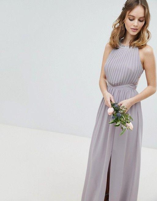 TFNC Petite Embellished Back Detail Maxi Bridesmaid Dress ...