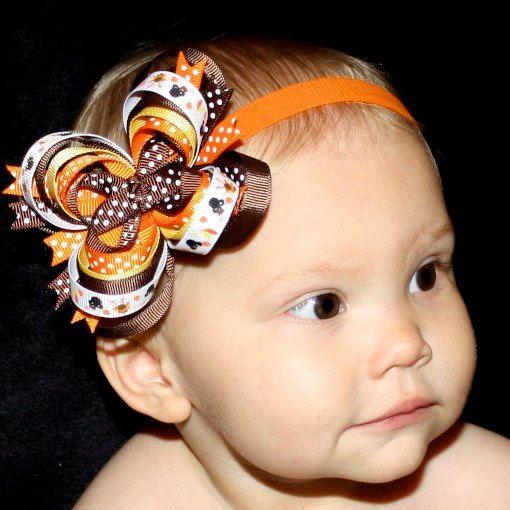 Thanksgiving hair bows