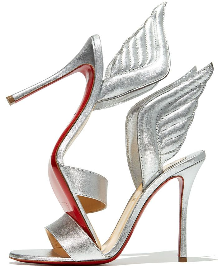 "ce67a248c14 Christian Louboutin ""Samotresse"" 120mm Wing Red Sole Sandal 