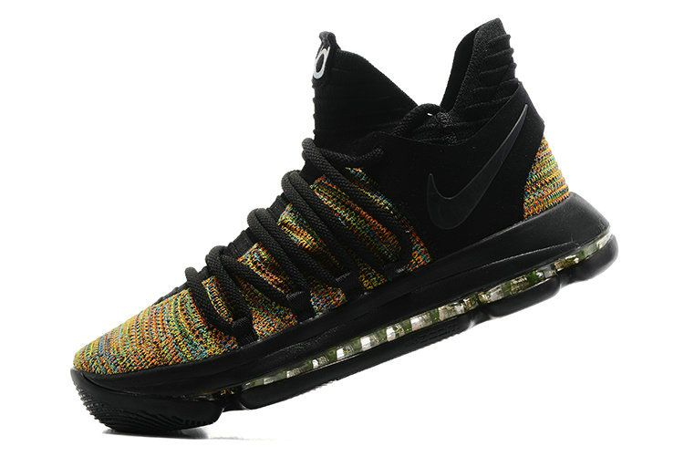 reputable site f2a06 29248 coupon code for cheap priced authentic kd 10 kevin durant x multi color black  mens basketball