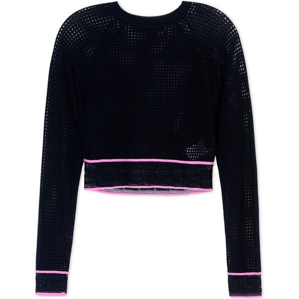 Versace Long Sleeve Jumper (3.145 BRL) ❤ liked on Polyvore featuring tops, sweaters, black, versace jumper, jumpers sweaters, viscose tops, long sleeve jumper and versace sweater