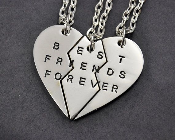 9a5916fbc72c Three Sisters Necklace Set Best Friends Forever by InitialFashion. Conjunto  de tres hermanas