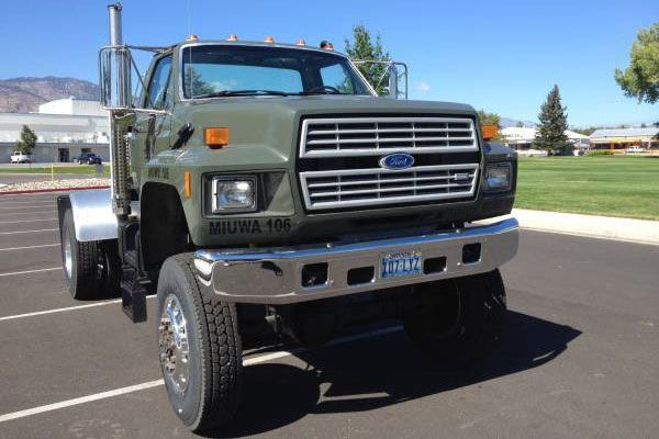 1993 Ford F 800 4x4 Diesel Craigslist Find In 2020 Ford Work Trucks Trucks Chevy Diesel Trucks