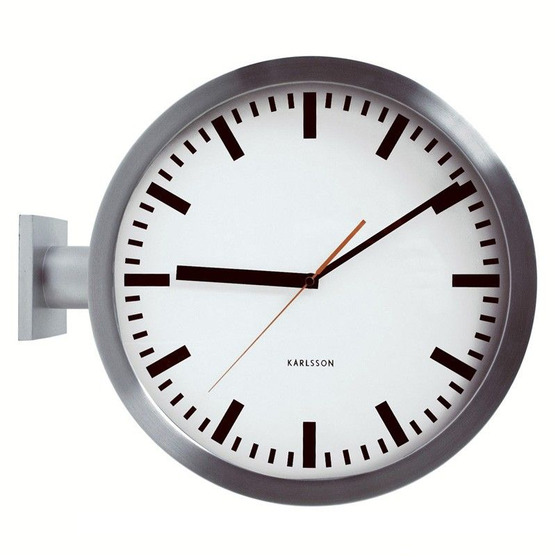 Karlsson Double Sided Wall Clock Two Sided Station Clock Wall Clock Clock Wall Clock Design