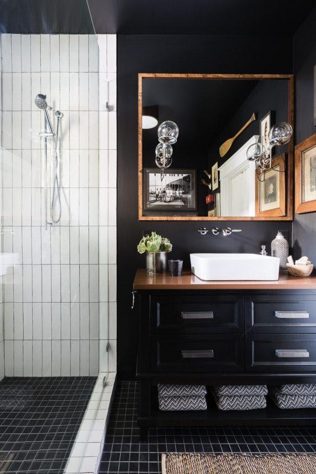 20 Bathroom Trends That Will Be Huge In 2017 Black Cabinets Bathroom Bathroom Trends Big Bathrooms