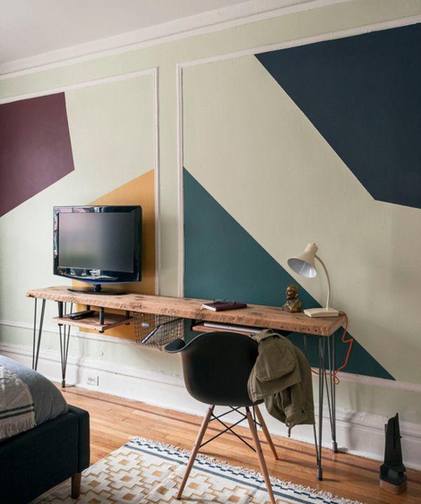 Narrow Desks For Slim Spaces And Space Savvy Homes Modern Wood Desk Home Decor Interior Design