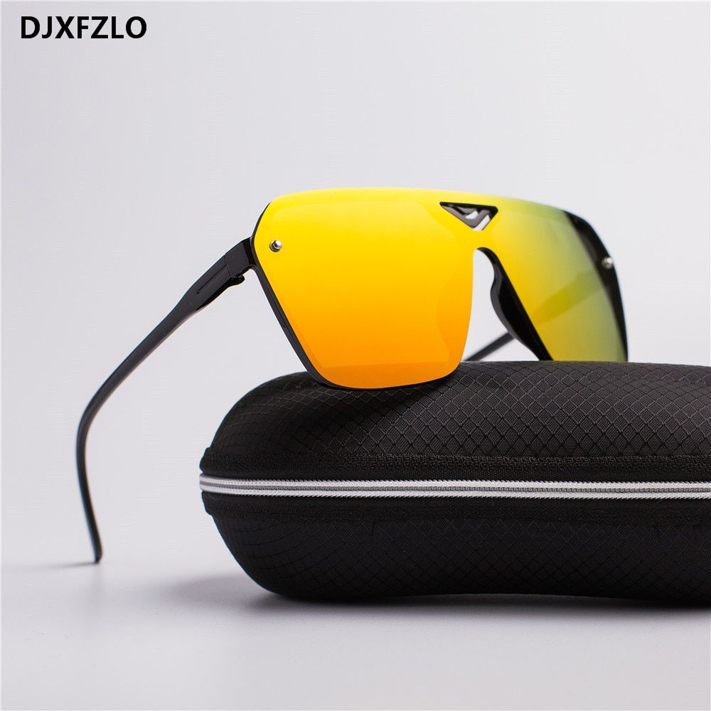 b59658c31b7 Nuevas gafas plástico masculino hombres del deporte de conducción  deslumbrante gafas de sol hombres marca diseñador de moda Retro gafas de  sol oculos de sol ...