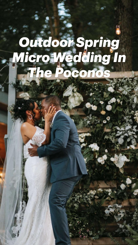 Outdoor Spring Micro Wedding In The Poconos