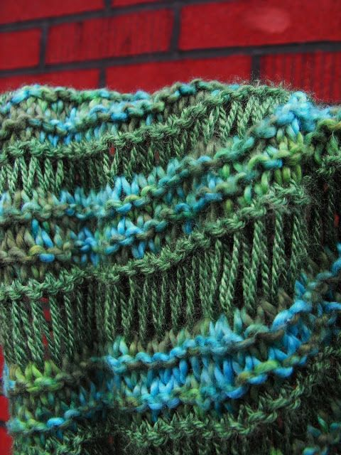 Close Knit Athabasca Spring Scarf Knitting Pattern Knit Scarf