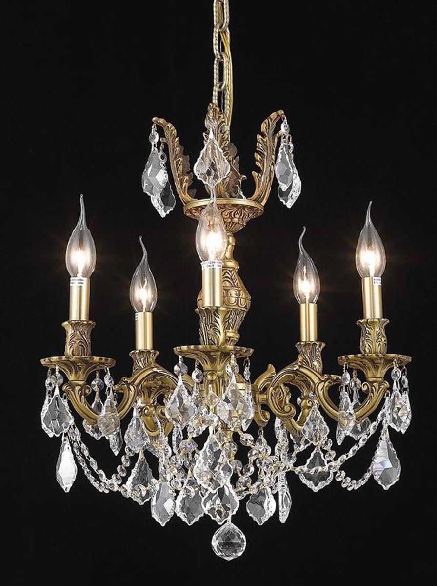 Marseille 5 light crystal clear chandelier in french gold finish marseille 5 light crystal clear chandelier in french gold finish 9505d18fgec arubaitofo Choice Image