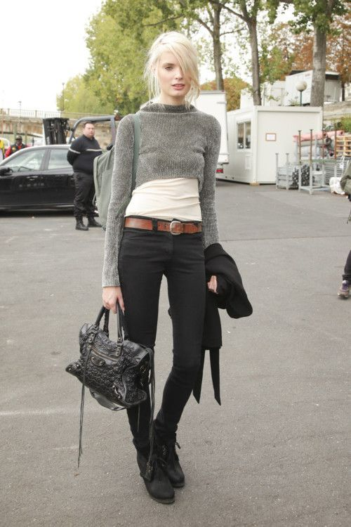 Chic Ways to Wear Cropped Sweaters | Clothes, Cropped jumpers and ...