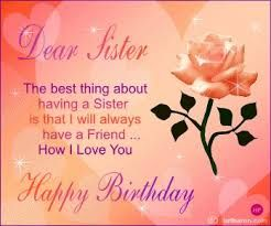 Image Result For Happy Birthday Sister Cards Signs