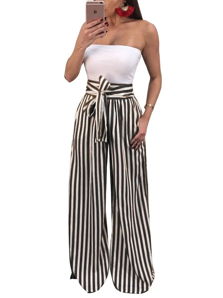 9f69d2c345b Shop Fashion Stripes High Waist Flared Pants – Discover sexy women fashion  at IVRose