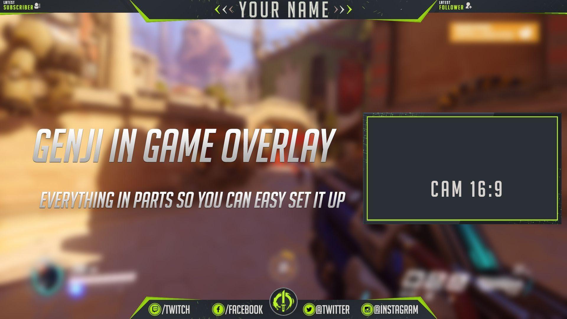 How to edit overlay in OBS STUDIO (Genji Overwatch overlay)