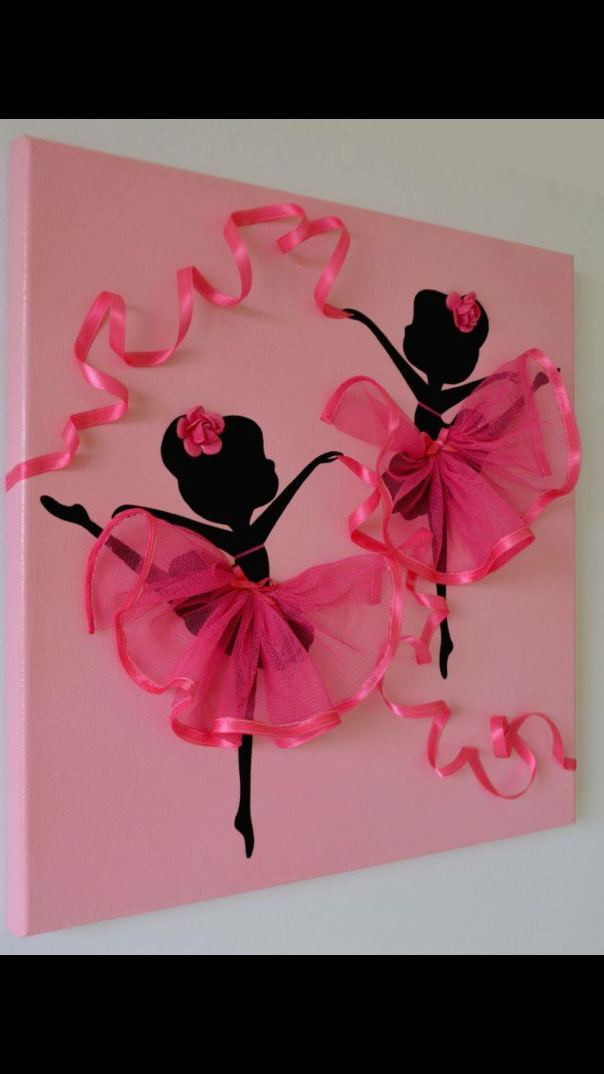 Ballerina tutu canvas wall art wall decor ideas crafts pink