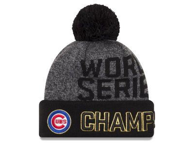 Chicago Cubs New Era MLB 2016 World Series Locker Room Knit Cap ... 8a37b3dc2e