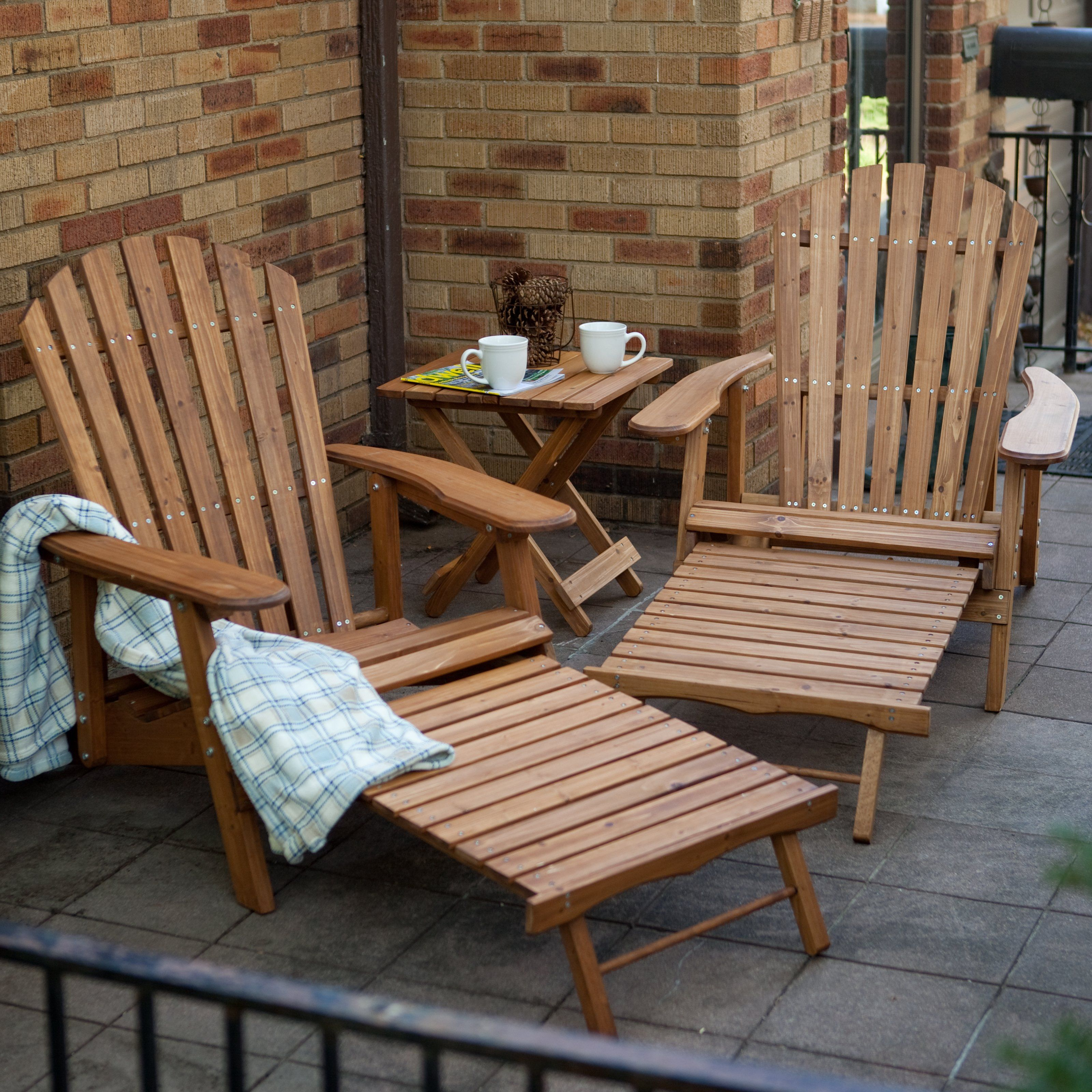 Grand Daddy Oversized Adirondack Chair Set With FREE Side Table