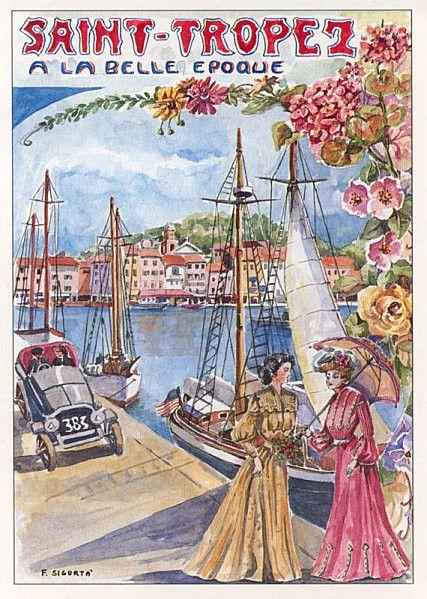 Station Balneaire Du Var Affiches Anciennes Affiche De Voyage Vintage Affiches De Voyage Retro