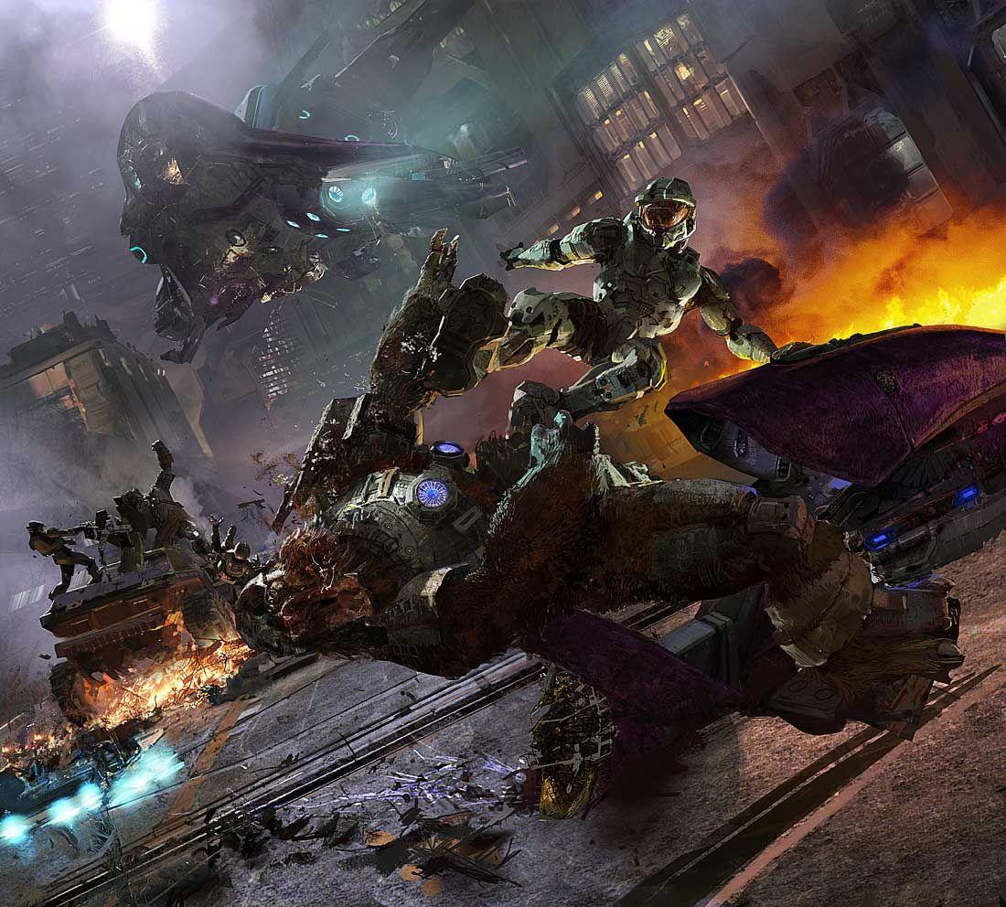 Halo 3 Concept Craig Mullins Halo 2 Halo