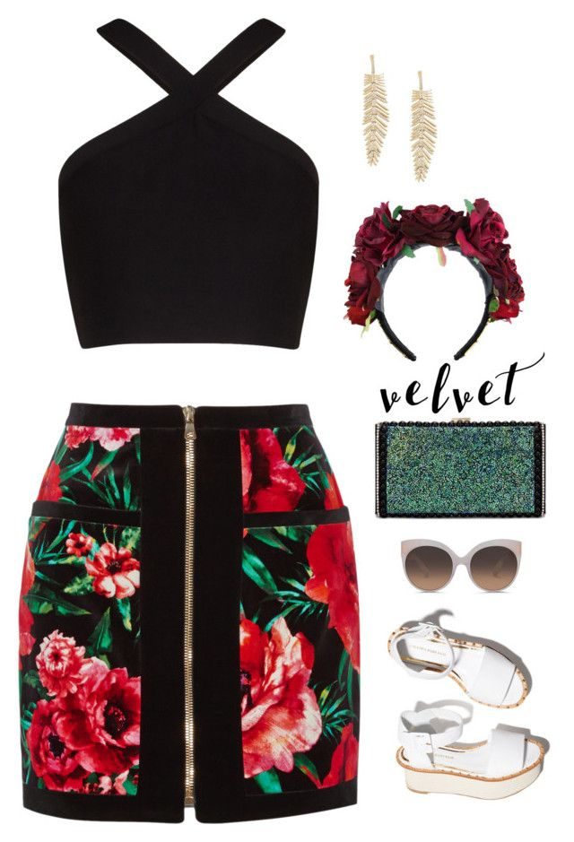 """""""Summer to Fall"""" by anetacerna ❤ liked on Polyvore featuring Balmain, BCBGMAXAZRIA, Paloma Barceló and Linda Farrow"""