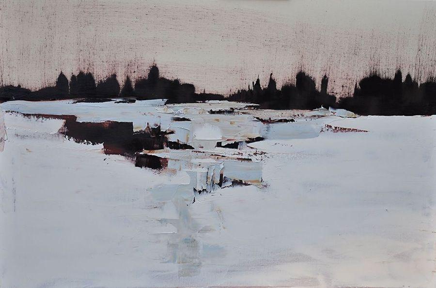 Abstract Arrangement by Sandra Pratt Oil ~ 24 x 36