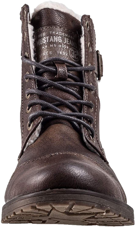Mustang Herren Stiefel gefüttert Braun, Schuhgröße:EUR 40